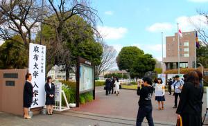 画像:入学式 大学2015