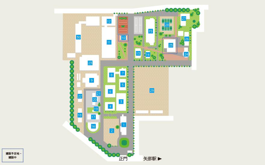 麻布大学校内MAP