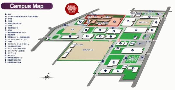 麻布学園キャンパスマップ