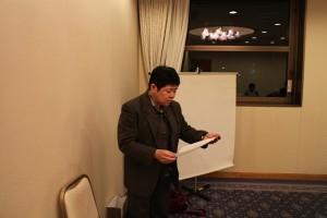 27年度総会 司会の本田先生