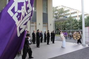 画像:応援団の演舞
